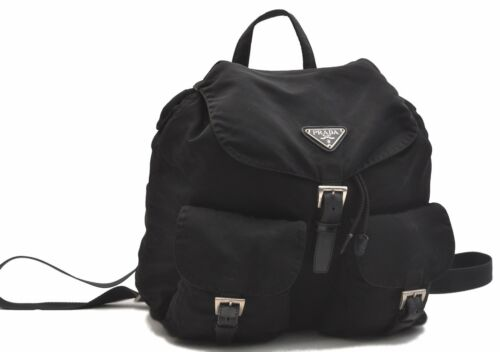 Authentic PRADA Nylon Backpack Black B4527