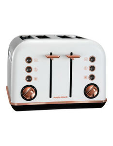NEW-Morphy-Richards-Accents-Rose-Gold-Collection-4-Slice-Toaster-Matte-White