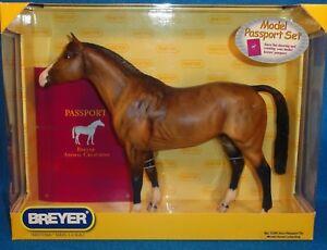 BREYER-TRADITIONAL-PASSPORT-TO-MODEL-HORSE-COLLECTING-DUN-034-TRAKEHNER-034-NIB