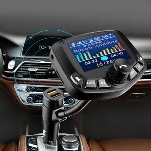 Bluetooth-stereo-kit-voiture-Lecteur-MP3-Transmetteur-FM-Mains-libres-Chargeur-USB