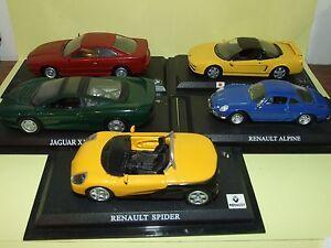 LOT-DE-5-MODELES-RENAULT-JAGUAR-HONDA-BMW-DEL-PRADO-1-43