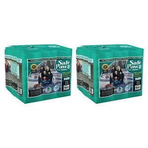 Safe Paw Dog Pet Saltless Ice Melt for Various Terrain, 22 Lb Flexicube (2 Pack)