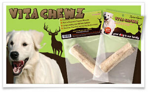AntlerChewz Natural VitaChewz Antler Dog Chew for Strong Adult Chewers