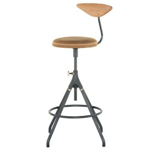 Incredible Details About 35 8 Tall Bar Stool Umber Tan Leather Cast Iron Swivel Base Harwood Back Rest Gmtry Best Dining Table And Chair Ideas Images Gmtryco