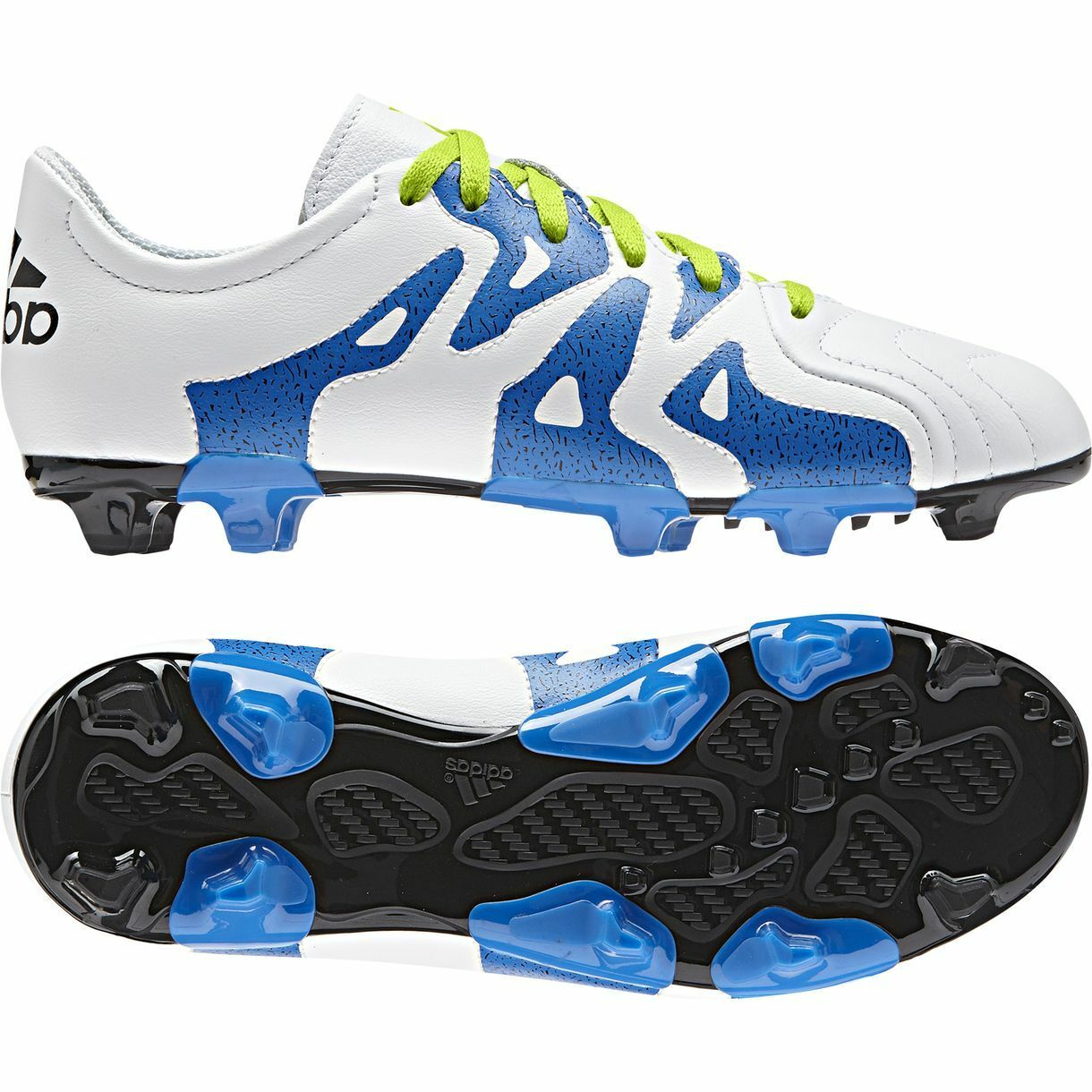 Adidas X 15.3 TRX FG   AG 2015 Soccer shoes Cleats New White   Slime Kids Youth