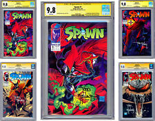 SPAWN #1-2-3-4 CGC-SS 9.8 *ALL ISSUES SIGNED* MCFARLANE STORY COVER & ART 1992