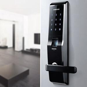 Image is loading Express-Samsung-SHS-H700-Biometric-Fingerprint-Door-Lock- & Express] Samsung SHS-H700 Biometric Fingerprint Door Lock English ...