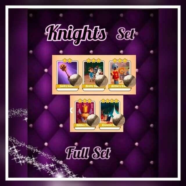 Coin Master Cards ::: Knights Full set (( Fast sending))