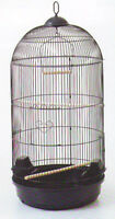 Large Round Bird Cage For Finch Canary Cockatiel Parakeet Dometop Black-547