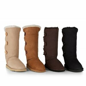 844a955e018 Details about Ugg Boots - Adult 3 Button Boot - Genuine Sheepskin