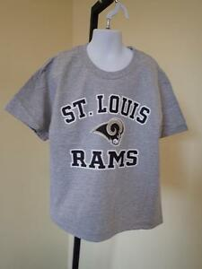 New-Flawed-St-Louis-Rams-Youth-Small-S-8-Gray-T-Shirt