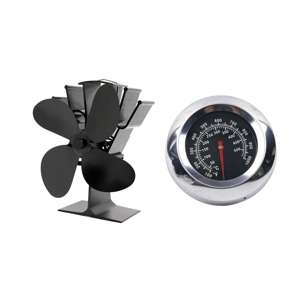 Ventilateur 4 poêles à chaleur ultra silencieux pour poêle à bois et