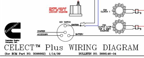 wiring diagram cummins wiring diagram cummins celect plus for ecm part no 3096662 3666146 04