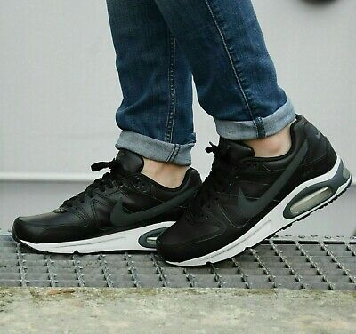Nike Air Max Command Cuir Homme Baskets Chaussures NoirGris neutre   eBay