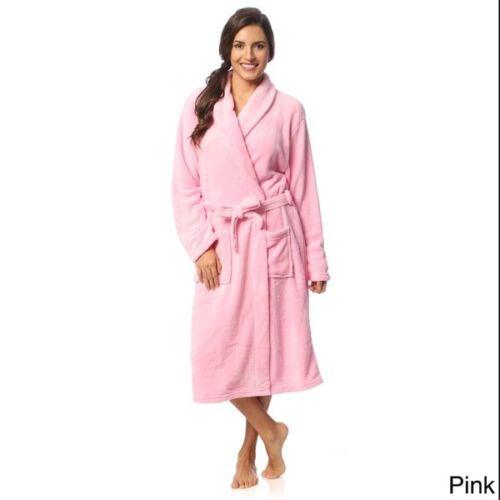 Coral Fleece USA Seller Shawl Collar Super Soft Womens Robe Ladies Bath Robe