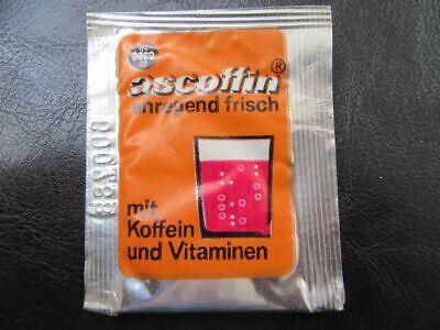 Diplomatisch Ascoffin-brausepulver Mit Koffein Und Vitaminen-ungeöffnet-original Ddr...1