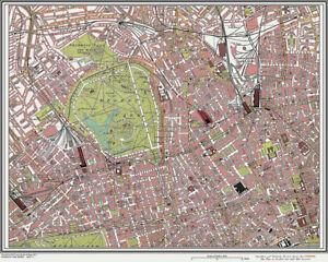 Regents Park Camden Town Map London 1908 11 Ebay