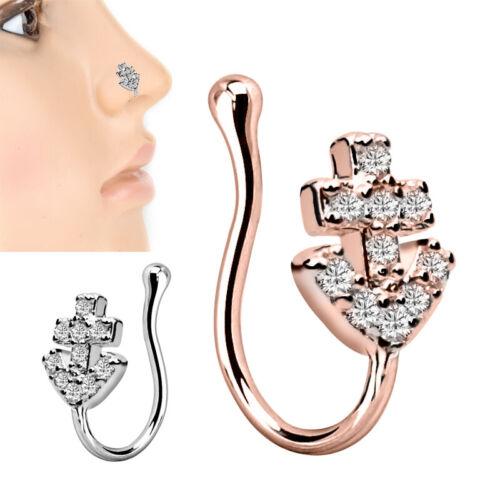 Nasenpiercing Nase Ring Clip On Nasen Klemme Ohr Fake Stecker Piercing Schmuck