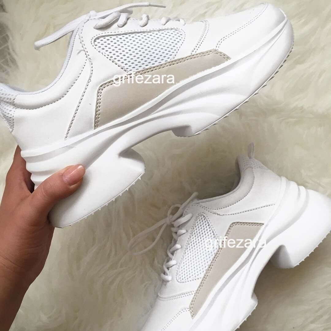ZARA CHUNKY SOLE SNEAKERS Weiß BLOGGERS Schuhe 36-41 REF.1417/301 AW/18 BLOGGERS Weiß FAVORITE b2b563