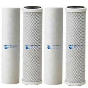 2 Sets Reverse Osmosis & Deionization Fish & Aquariums 2.5x10' 2 5 Micron Sediment Filters 2 Carbon Block Filters