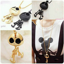 Big eyes UFO alien skull long necklace pumpkin fashion film black gift skeleton