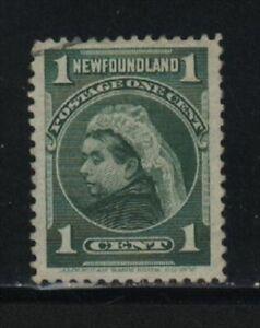"""NEWFOUNDLAND, UNITRADE # 80 USED """"QUEEN VICTORIA, 1898"""