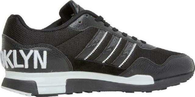 Mens ADIDAS ORIGINALS ZX 900 Brooklyn Black Leather Trainers D65721