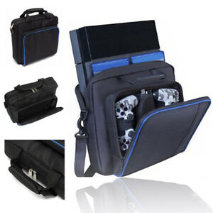Black-Multifunctional-Travel-Carry-Case-Carrying-Bag-For-PlayStation4-PS4