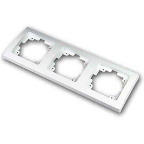 DELPHI Set 3-fach Schutzkontakt-Steckdose weiß UP dreifach im Unterputz-Rahmen