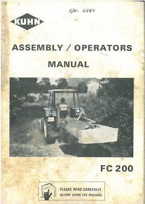 Kuhn Segadora acondicionadora FC200 Manual del operador