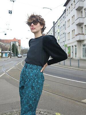 Brigitte Stiller Camicia Top Velluto Maniche 60er True Vintage 60s Blouse Velvet Sleeves-mostra Il Titolo Originale