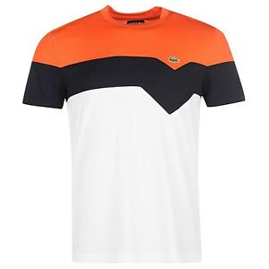 2caea2e6bdc Image is loading Lacoste-Mens-Sport-Block-Colour-T-Shirt-New