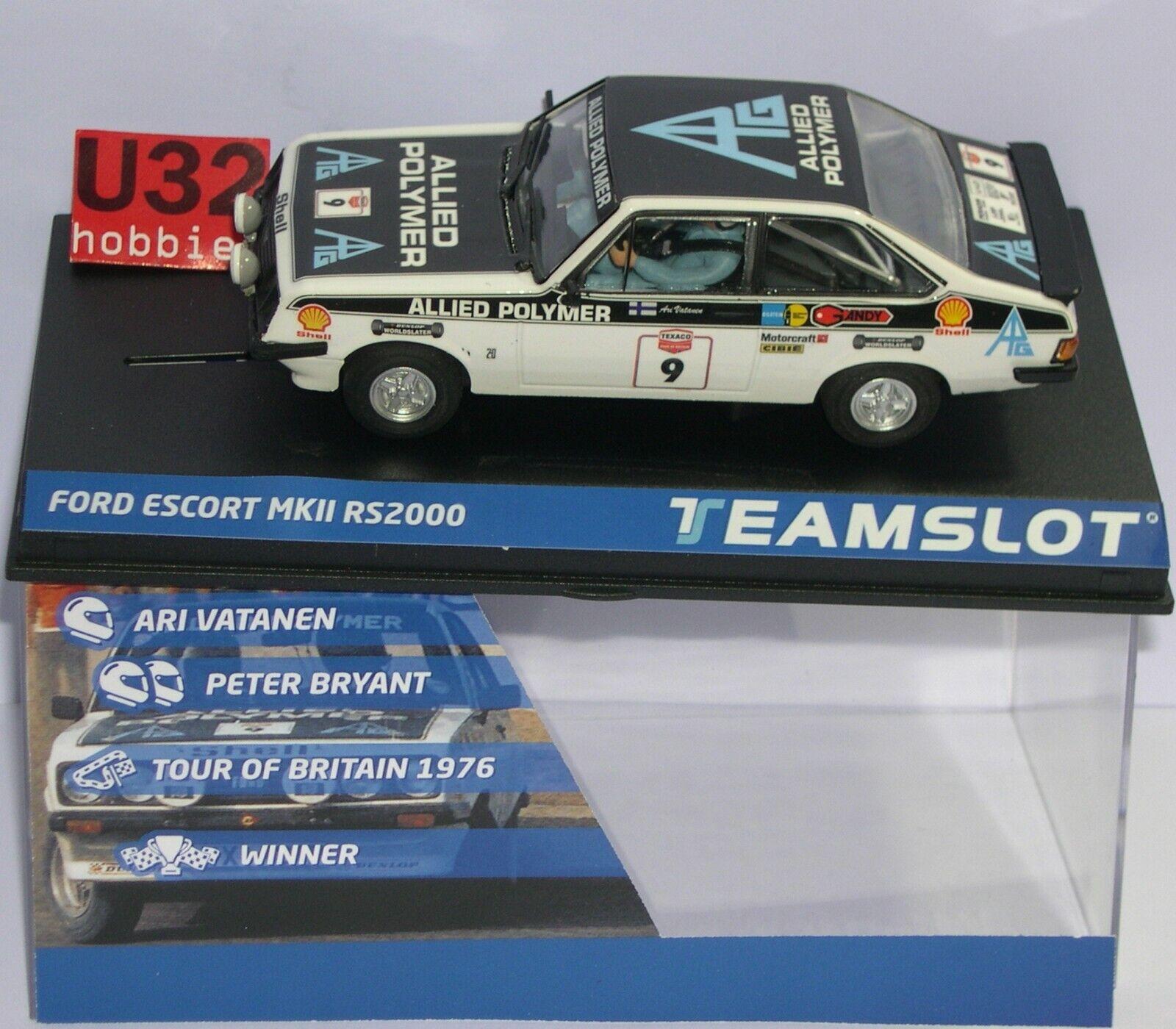 Team Slot 12703 Ford Escort Mkii RS2000 Tour Britain 1973 Vatanen-Bryant