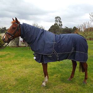 Detach-A-Neck-Horse-Rug-Turnout-Waterproof-Blanket-300G-Heavy-Fill-Clearance-Sal