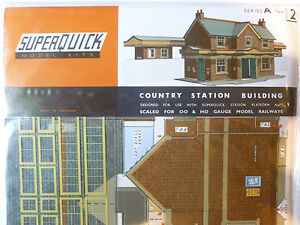 Superquick-A-Series-Kit-A2-Country-Station-Building-00-Scale-Model-Railways-NEW
