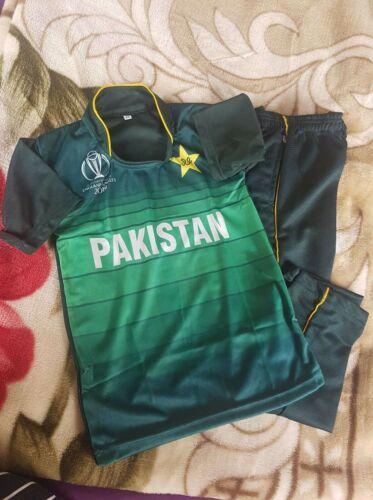 2019 world cup PAKISTAN Cricket Shirt+trouser for kids