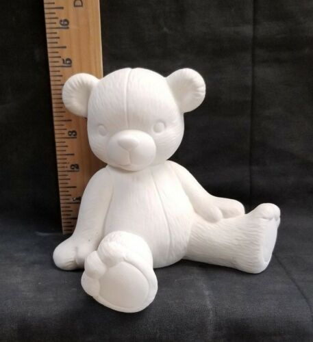 *Scioto Ceramic Bisque Teddy Bear Bank Ready to Paint*