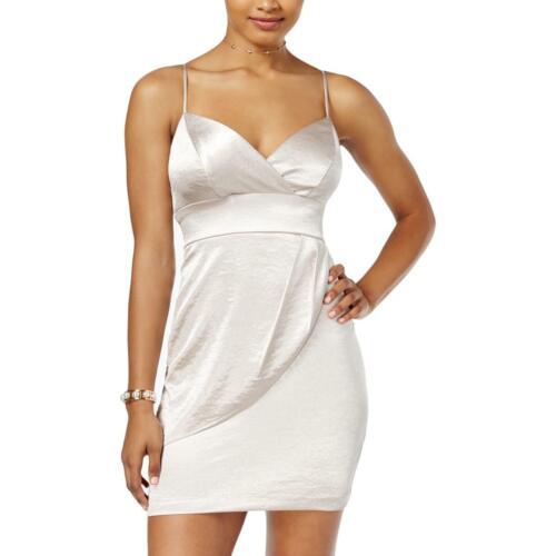 Teeze Me Womens Faux-Wrap V-Neck Party Slip Dress Juniors BHFO 2161