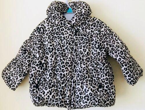 Bebé Niñas Ex Tienda Estampado de Leopardo Abrigo//Chaqueta Acolchada 0 M a 24 M
