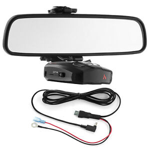 Mirror-Mount-Bracket-Direct-Wire-Power-Cord-for-Cobra-Radar-Detectors