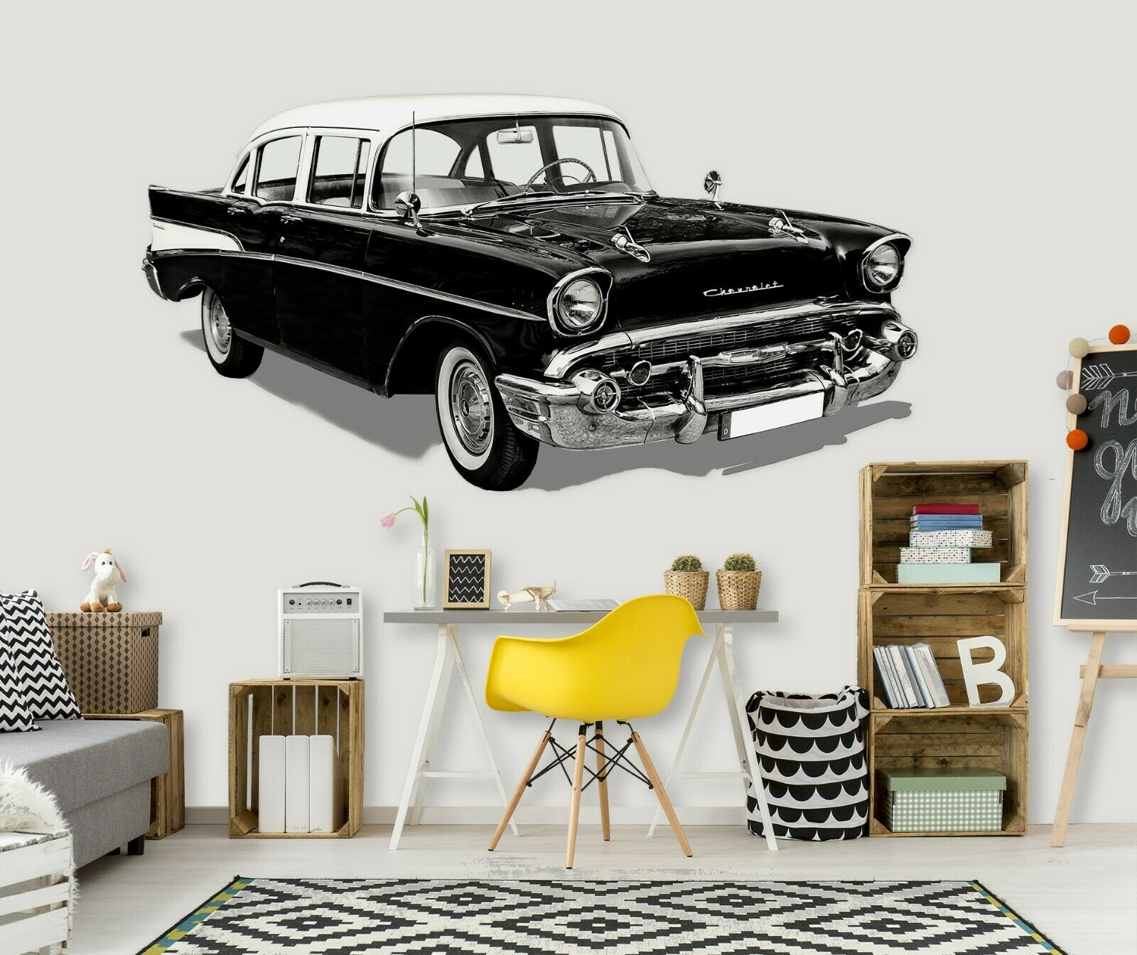 3D Oldtimer N03 Car Wallpaper Mural Poster Transport Wall Stickers Amy