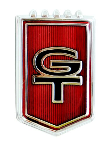 """1965 Ford Mustang GT Emblem Badge Heavy Duty Steel Metal Sign 12/"""" X 8/"""""""