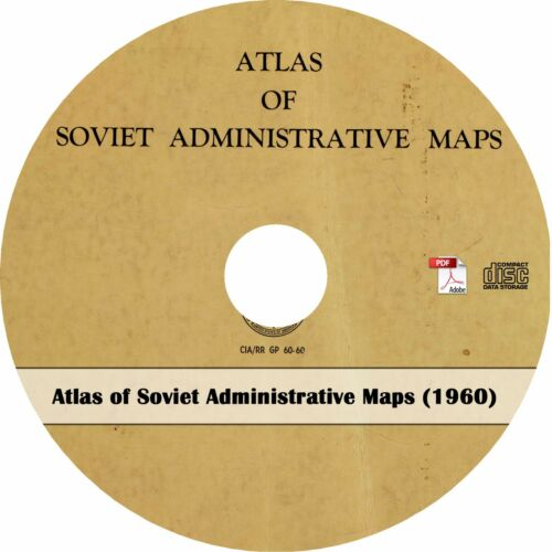 CIA Book on CD 94 Maps 1960 Soviet Union Atlas