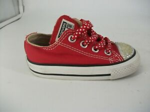b20588593879 Converse All Star Low Red with Diamante Toe UK 5 EU 21 JS093 DD 07 ...