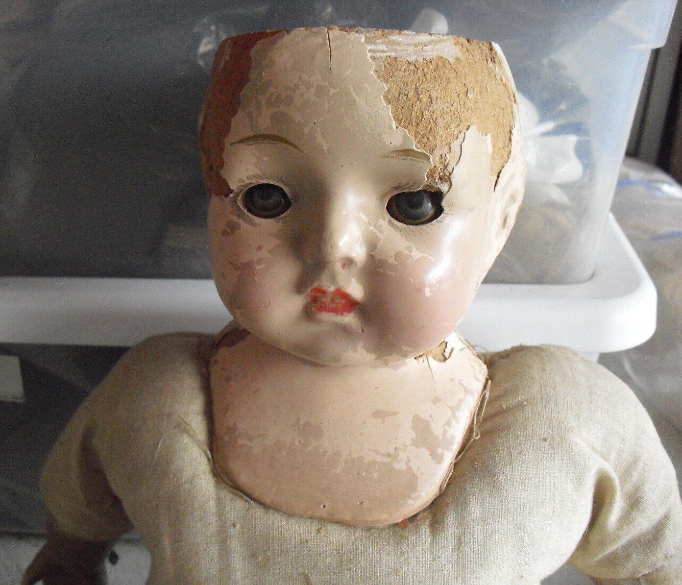 Vintage 1920s Effanbee Composition Cloth Effanbee Girl Doll 18