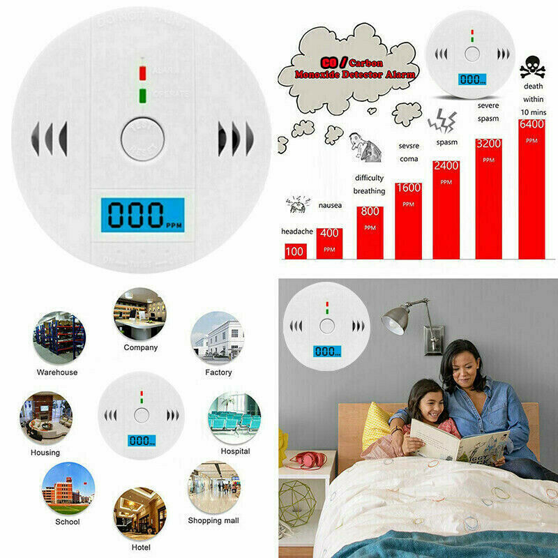 High Sensitive Combination CO Carbon Monoxide Detector Alarm