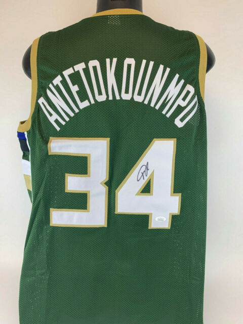 wholesale dealer 9f610 fe212 Giannis Antetokounmpo Signed Milwaukee Bucks