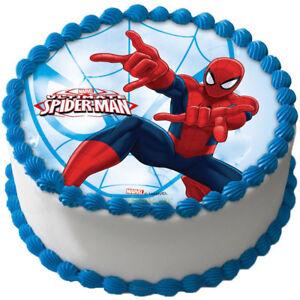 Essbar Tortendeko Marvel Spiderman Tortenaufleger Neu Geburtstag