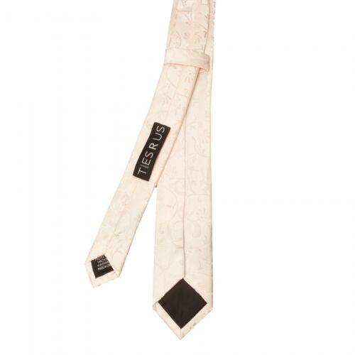 Handmade Blush Pink Floral Skinny Men Tie and Pocket Square Set Slim Wedding Tie