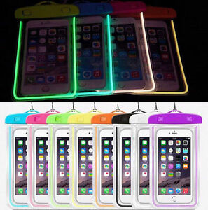 Luminous Waterproof Underwater Case Cover Bag Dry Pouch for Mobile Phone iPhone